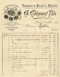Invoice from G. Clement Hils to Ogden Goelet