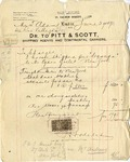 Invoice from Pitt & Scott to Ogden Goelet