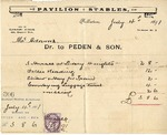 Invoice from Peden & Son to Ogden Goelet