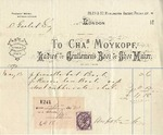 Invoice from Charles Moyopf to Ogden Goelet