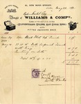 Invoice from Williams & Company to Ogden Goelet