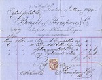 Invoice from Thompson & Co. to Ogden Goelet