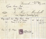 Invoice from Ross & Marshall to Ogden Goelet