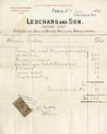 Invoice from Leuchars and Son to Ogden Goelet