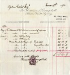 Invoice from Thomson & Campell to Ogden Goelet