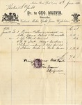 Invoice from George Marvin to Ogden Goelet