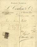 Invoice from L. Coulon & Co. to Ogden Goelet