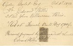Invoice from Edward Willis to Ogden Goelet