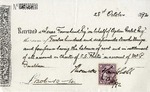 Receipt from Mr. P. Donaldson to Isaac Townshead and Ogden Goelet
