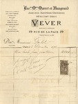 Invoice from Vever to Ogden Goelet