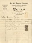 Invoice from Vever to Ogden Goelet