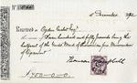 Receipt to Ogden Goelet concerning rent of