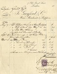 Invoice from Gaylord & Co. to Ogden Goelet
