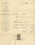 Invoice from Joseph Campana to Ogden Goelet
