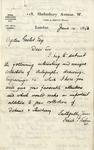 Letter from Frank T. Sabin To Ogden Goelet