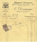 Invoice from E. Deraisme to Ogden Goelet