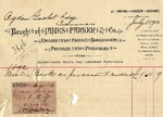 Invoice from James Parker & Co. to Ogden Goelet