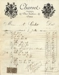 Invoice from Charvet to Ogden Goelet
