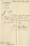 Letter from Henri Stettiner to Ogden Goelet