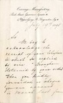 Letter from Thomas Peters & Sons to Ogden Goelet