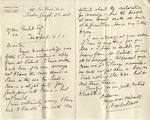 Letter from Charles Davis to Ogden Goelet
