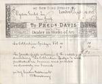Invoice from Fredrick Davis to Ogden Goelet