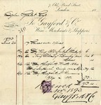 Invoice from Gayford & Co. to Ogden Goelet