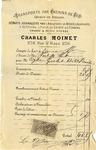 Invoice from Charles Moinet to Ogden Goelet