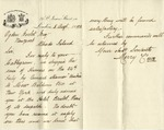 Letter from Merry & Co. to Ogden Goelet