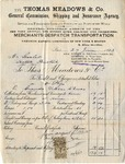Invoice from Thomas Meadows & Co. to Ogden Goelet