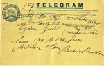 Telegram from Baldwin Brothers & Co. to Ogden Goelet