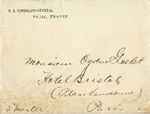 Envelope from U.S. Consulate-General addressed to Ogden Goelet
