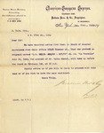 Letter from Baldwin Bros & Co. to J. Yale, Esq. by Baldwin Bros & Co.