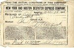 Contract between New York and Boston Despatch Express Co. and Ogden Goelet by New York and Boston Despatch Express Co. and E. D. Wood