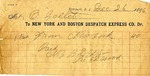 Receipt from New York and Boston Despatch Express Co. to Ogden Goelet