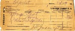 Receipt from Old Colony Steamboat Co. to Ogden Goelet by Old Colony Steamboat Company