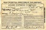 Contract between Adams Express Company and Ogden Goelet
