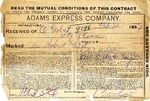 Contract between Adams Express Company and Ogden Goelet