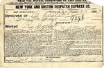 Contract between New York and Boston Despatch Express Co. and Ogden Goelet