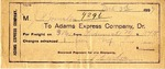 Receipt from Adams Express Company to Ogden Goelet