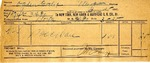 Receipt from New York, New Haven & Hartford R. R. Co. to Ogden Goelet by New York, New Haven & Hartford R. R.
