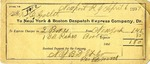 Receipt from New York & Boston Despatch Express Company to Ogden Goelet by New York & Boston Despatch Company and E. D. Wood