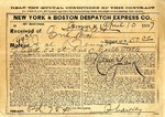 Contract between New York & Boston Despatch Express Co. and Ogden Goelet