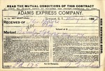 Contract with Adams Express Company