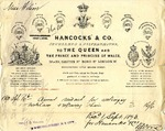Invoice from Hancocks' & Co. to Miss Wilson