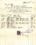 Invoice from Dora Leeson to Mrs. Goelet