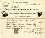 Invoice from Williams & Company to Mrs. Goelet