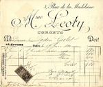 Invoice from Madame Leoty to Mrs. Ogden Goelet