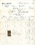 Invoice from Madame Denoix to Madame Goelet