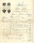 Invoice from Felix to Madame Goelet Wilson